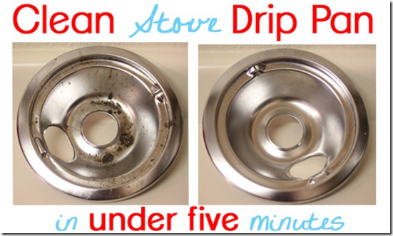 Clean stove drip pan in under five minutes her baby steps - Clean oven tray less minute ...