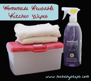 How to make homemade kitchen wipes