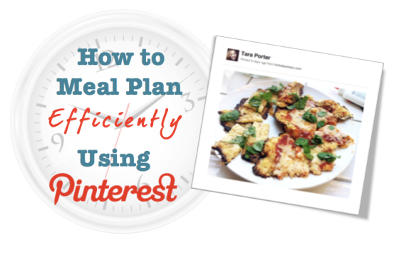 How to meal plan efficiently using pinterest