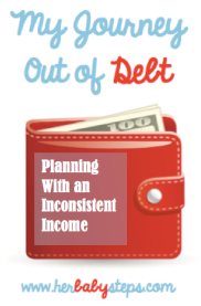 Getting out of debt on an inconsistent income